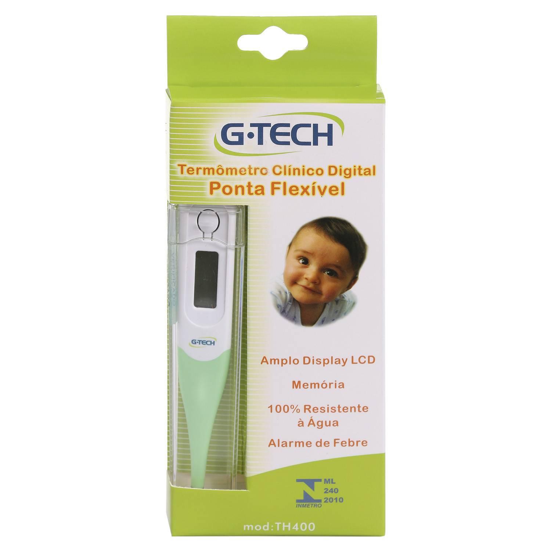 Termômetro Clínico Digital G-Tech TH400 Ponta Flexível
