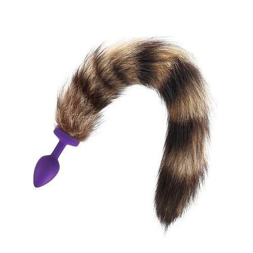 Plug Anal Com Rabo Cauda Raposa Raccoon 35 Cm