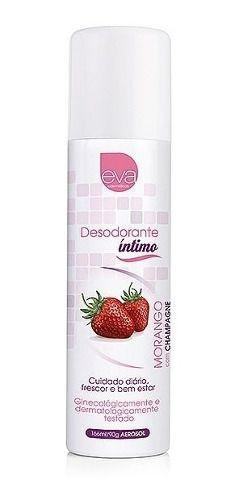 Eva Cosméticos Desodorante Íntimo Morango Com Champagne C123