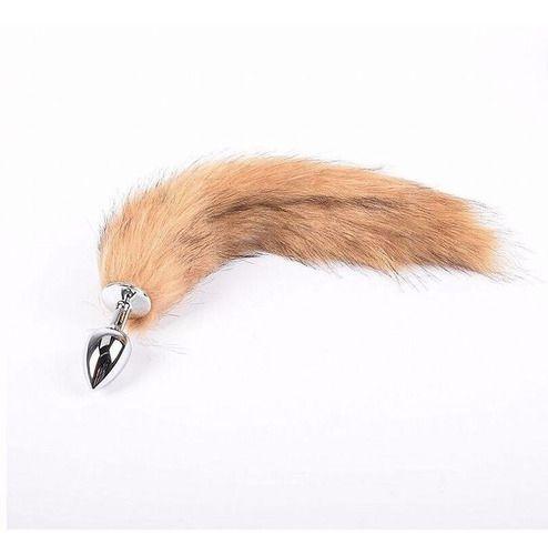 Plug Anal Com Rabo Cauda Raposa Raccoon 35 Cm (6186)