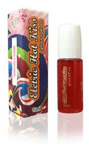 Soft Love Eletric Hot Kiss Gloss Roll-on Morango C/ Chocolat