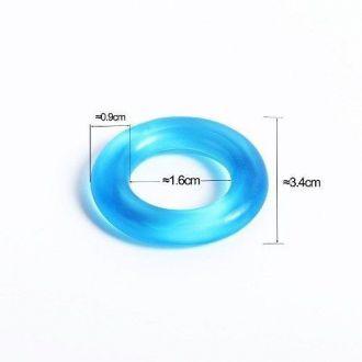 3 Pçs Anel Peniano Retarda Ejaculação Silicone Elástico Liso