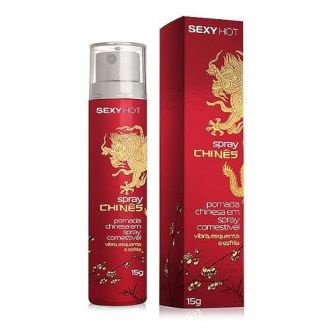 Spray Chinês Excitante Comestível Esquenta Esfria Vibra C281