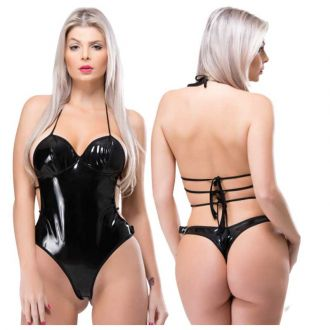 Body Sensual Sado Dominadora Vinil Preto Submission 918