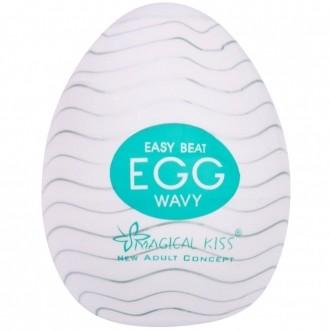 Egg Magical Kiss Ovo Para Masturbação Masculina Tipo Wavy