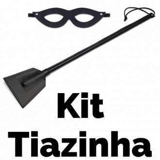 Kit Sado Tiazinha Com 2 Peças 1 Máscara e 1 Chibata 40 Cm