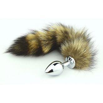 Plug Anal Com Rabo Cauda Raposa Raccoon 35 Cm (5861)