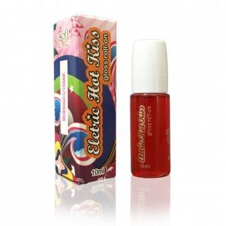 Soft Love Eletric Hot Kiss Gloss Roll-on Morango C/ Champ.