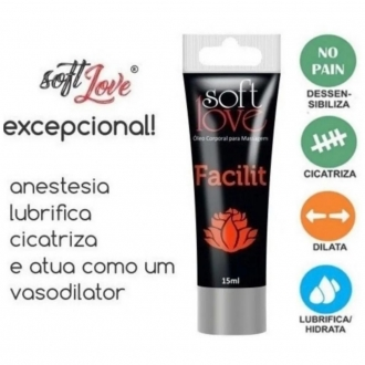 Soft Love Gel Lubrificante Anal Facilit Black Out 4x1