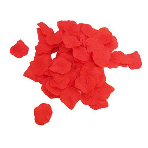 500 Pétalas De Rosas Artifíciais Vermelhas Tecido Acetinado