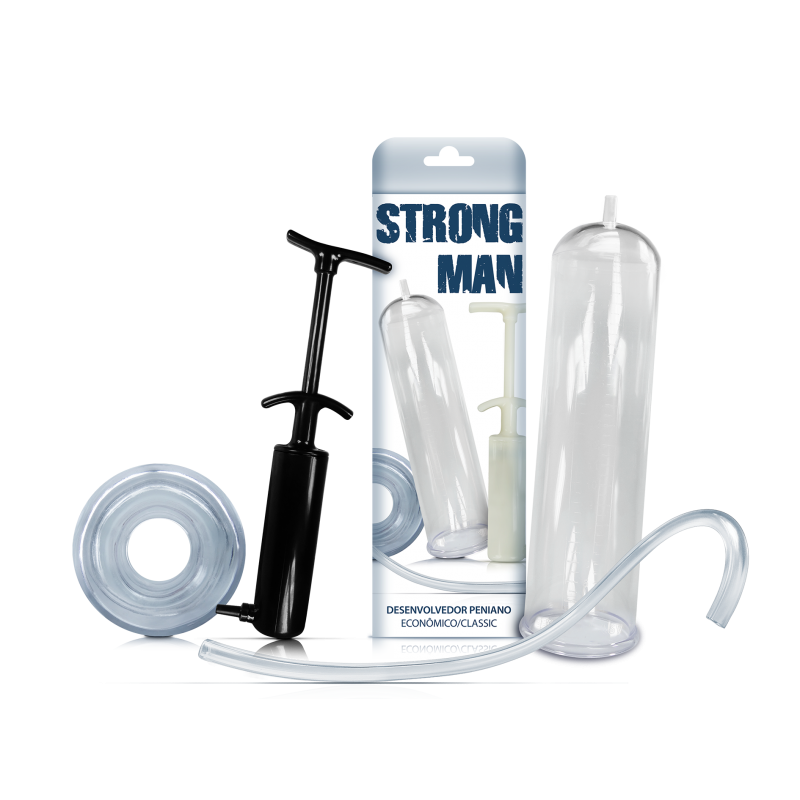 Bomba Peniana Manual Aumentar Pênis Strong Man Original