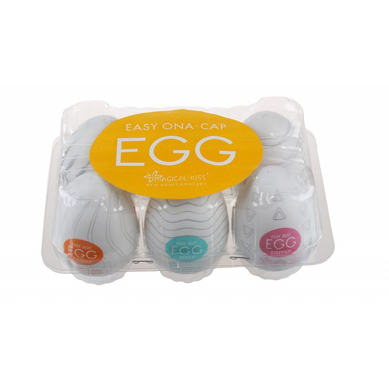Caixa Com 6 Egg Magical Kiss Ovo Para Masturbação Masculina