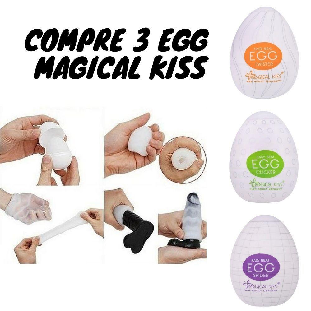 Compre 3 Egg Masturbação Masculino Magical Kiss Formato Ovo
