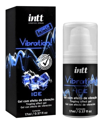 Intt Vibration Gel Excitante Power Extra Forte Sabor Ice
