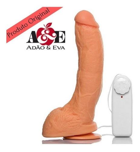 Pênis Realista Vibrador 21 X 5,5 Grande E Grosso Bengala A40