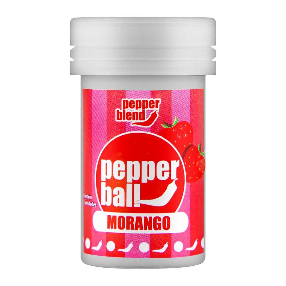 Pepper Ball Plus Bolinha Explosiva Beijável Morango