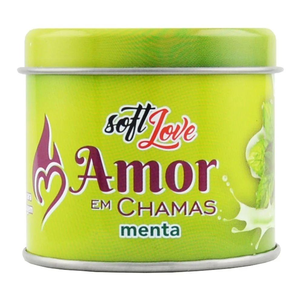 Soft Love Vela Beijável Hot Amor Em Chamas Menta