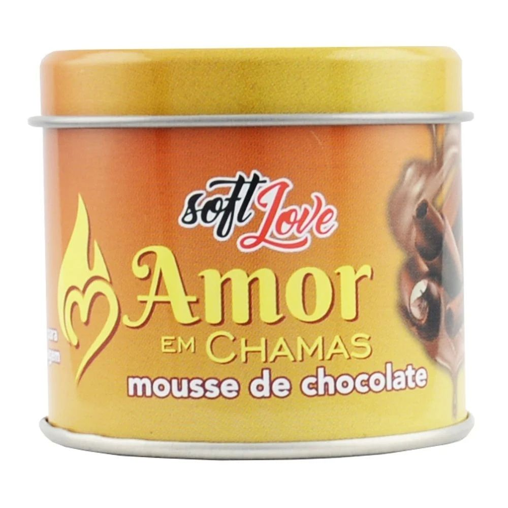 Soft Love Vela Beijável Hot Amor Chamas Mousse De Chocolate