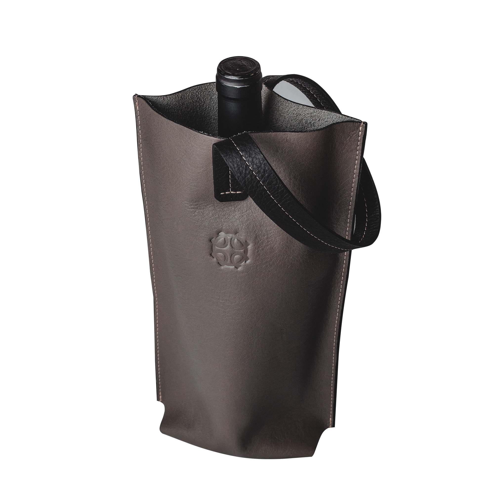 BAG DE COURO (cor cinza)