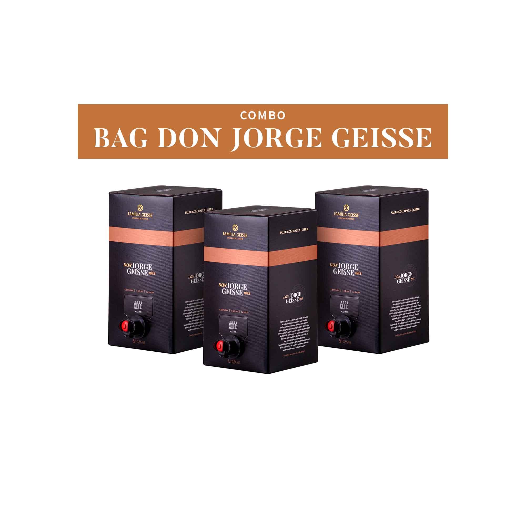 COMBO BAG DON JORGE GEISSE - 3 BAGS