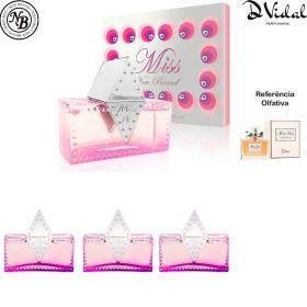 Combo 03 Perfumes - Miss For Women Eau de Parfum New Brand - Perfume Feminino 100ml