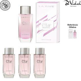 Combo 03 Perfumes - My Delicate Eau De Parfum La Rive - Perfume Feminino 90ml