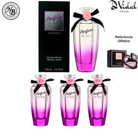 Combo 03 Perfumes - Parfum de Nuit New Brand Eau de Parfum - Perfume Feminino 100ml