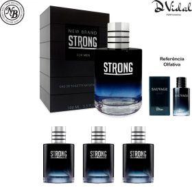 Combo 03 Perfumes - Strong New Brand Eau de Toilette - Perfume Masculino 100ml