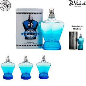 Combo 03 Perfumes - World Champion Blue Eau de Toilette New Brand - Perfume Masculino 100ml