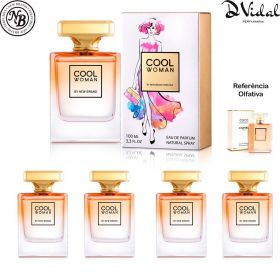 Combo 04 Perfumes - Cool Woman New Brand Eau de Parfum - Perfume Feminino 100ml