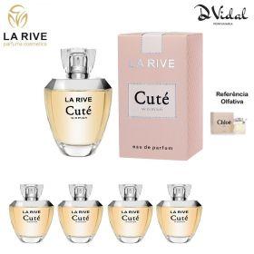 Combo 04 Perfumes - Cuté La Rive Eau de Parfum - Perfume Feminino 100ml