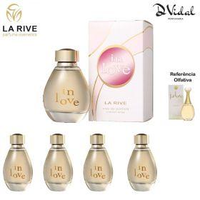 Combo 04 Perfumes - In Love La Rive Eau de Parfum - Perfume Feminino 90ml