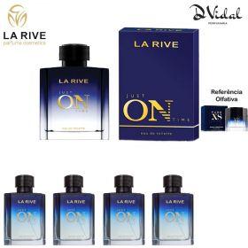 Combo 04 Perfumes - Just On Time La Rive Eau de Toilette - Perfume Masculino 100ml