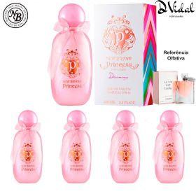 Combo 04 Perfumes - Princess Dreaming New Brand Eau de Parfum - Perfume Feminino 100ml