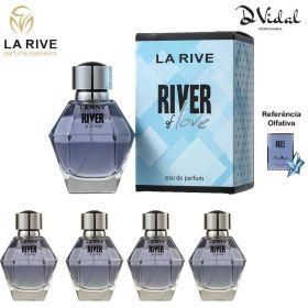 Combo 04 Perfumes - River Of Love La Rive Eau de Parfum - Perfume Feminino 100ml