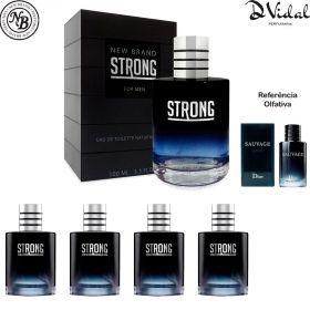 Combo 04 Perfumes - Strong New Brand Eau de Toilette - Perfume Masculino 100ml