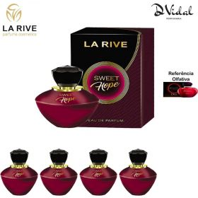 Combo 04 Perfumes - Sweet Hope La Rive Eau de Parfum - Perfume Feminino 90ml
