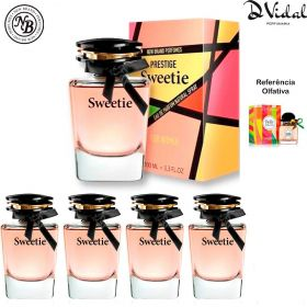 Combo 04 Perfumes - Sweetie New Brand Prestige Eau de Parfum - Perfume Feminino 100ml
