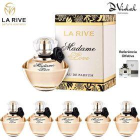 Combo 05 Perfumes - Madame In Love La Rive Eau de Parfum - Perfume Feminino 90ml