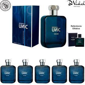 Combo 05 Perfumes - Unic for Men Eau de Toilette New Brand - Perfume Masculino 100ml
