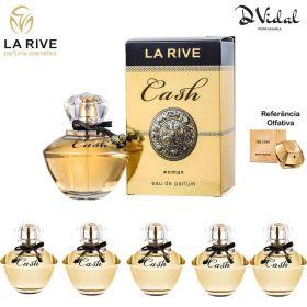 Combo 05 Perfumes - Cash Woman La Rive Eau de Parfum - Perfume Feminino 90ml
