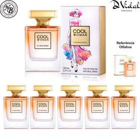 Combo 05 Perfumes - Cool Woman New Brand Eau de Parfum - Perfume Feminino 100ml