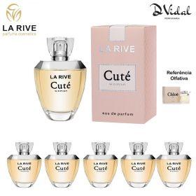 Combo 05 Perfumes - Cuté La Rive Eau de Parfum - Perfume Feminino 100ml
