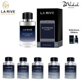 Combo 05 Perfumes - Extreme Story La Rive Eau de Toilette - Perfume Masculino 75ml