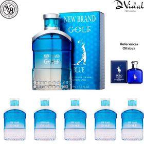 Combo 05 Perfumes - Golf Blue For Men New Brand Eau de Toilette - Perfume Masculino 100ml