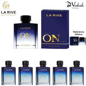 Combo 05 Perfumes  - Just On Time La Rive Eau de Toilette - Perfume Masculino 100ml