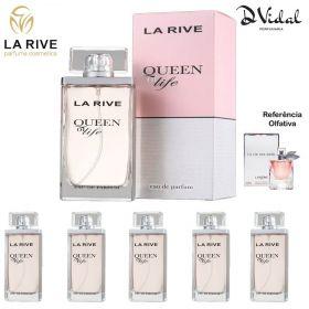 Combo 05 Perfumes - Queen Of Life La Rive Eau de Parfum - Perfume Feminino 75ml