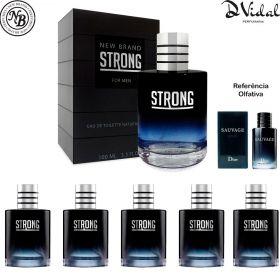 Combo 05 Perfumes - Strong New Brand Eau de Toilette - Perfume Masculino 100ml