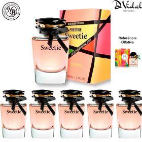Combo 05 Perfumes - Sweetie New Brand Prestige Eau de Parfum - Perfume Feminino 100ml