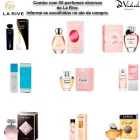 Combo Revenda 05 Perfumes La Rive Masculinos ou Femininos